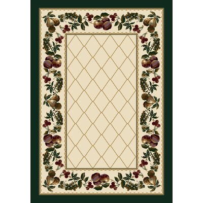 Signature Fruit Medley Opal Area Rug Rug Size: Rectangle 78 x 109