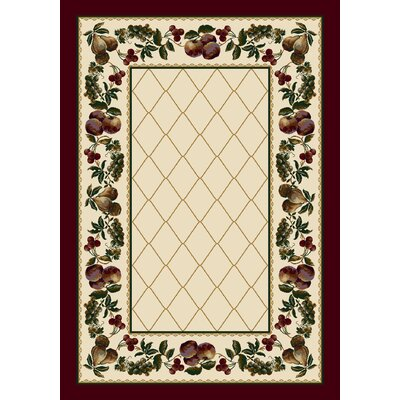 Signature Fruit Medley Opal Garnet Area Rug Rug Size: Rectangle 54 x 78