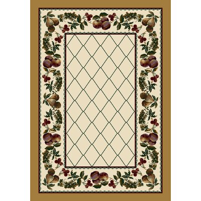 Signature Fruit Medley Opal Topaz Area Rug Rug Size: Rectangle 78 x 109