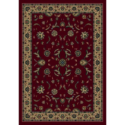 Signature Isfahan Garnet Area Rug Rug Size: Rectangle 54 x 78