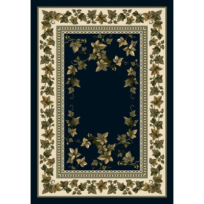 Signature Ivy Valley Sapphire Area Rug Rug Size: Rectangle 54 x 78