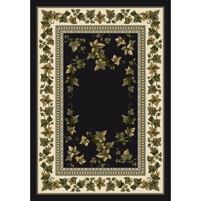 Signature Ivy Valley Onyx Area Rug Rug Size: Oval 5'4
