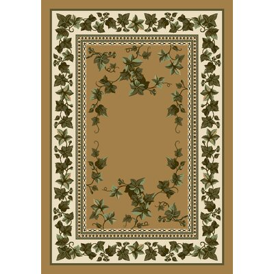 Signature Ivy Valley Maize Area Rug Rug Size: Oval 54 x 78