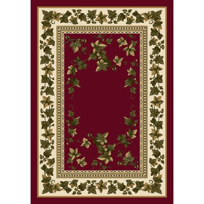 Signature Ivy Valley Brick Area Rug Rug Size: Oval 54 x 78