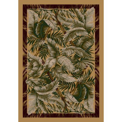 Signature Jungle Fever Light Maize Area Rug Rug Size: Rectangle 109 x 132