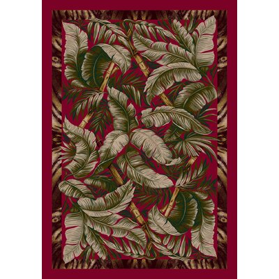 Signature Jungle Fever Ruby Area Rug Rug Size: 109 x 132