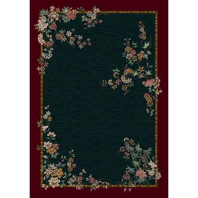 Signature Mindre Emerald Area Rug Rug Size: Rectangle 21 x 78