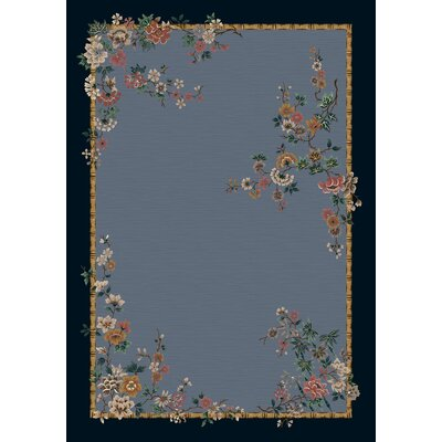 Signature Mindre Lapis Floral Area Rug Rug Size: Rectangle 109 x 132
