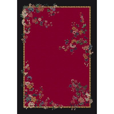 Signature Mindre Ruby Area Rug Rug Size: Rectangle 78 x 109