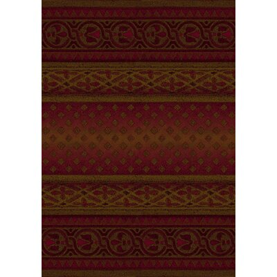 Signature Mohavi Brick/Red Area Rug Rug Size: Round 77