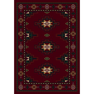Signature Prairie Star Garnet Area Rug Rug Size: Rectangle 78 x 109