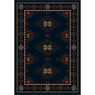 Signature Prairie Star Sapphire Area Rug Rug Size: Rectangle 78 x 109