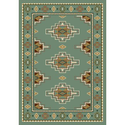 Signature Prairie Star Peridot Area Rug Rug Size: Rectangle 109 x 132