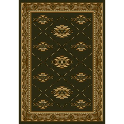 Signature Shiba Olive Area Rug Rug Size: Rectangle 78 x 109