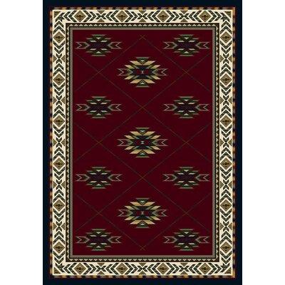 Signature Shiba Garnet Sapphire Area Rug Rug Size: Oval 310 x 54