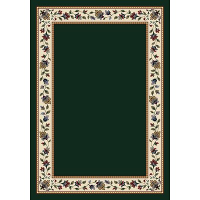 Signature Symphony Emerald Solid Area Rug Rug Size: Rectangle 109 x 132