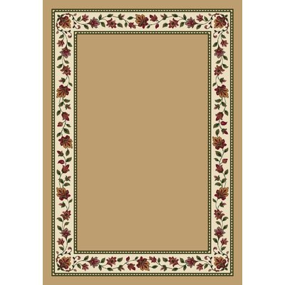 Signature Symphony Wheat Solid Area Rug Rug Size: Oval 310 x 54
