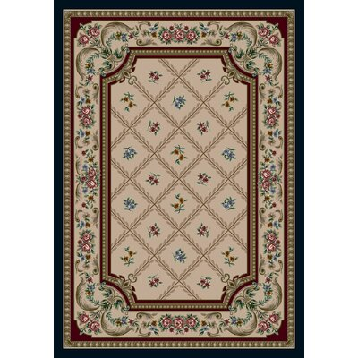 Signature Vanderbilt Pearl Mist Area Rug Rug Size: Rectangle 109 x 132