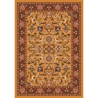 Pastiche Abadan Spice Gold Rug Rug Size: Rectangle 78 x 109