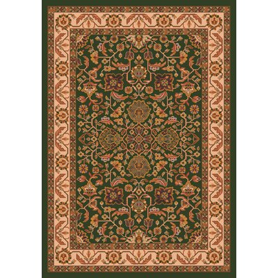 Pastiche Abadan Lance Green Rug Rug Size: Rectangle 54 x 78