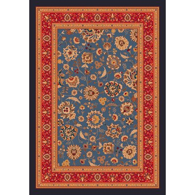Pastiche Aydin Moor Blue Rug Rug Size: Rectangle 109 x 132
