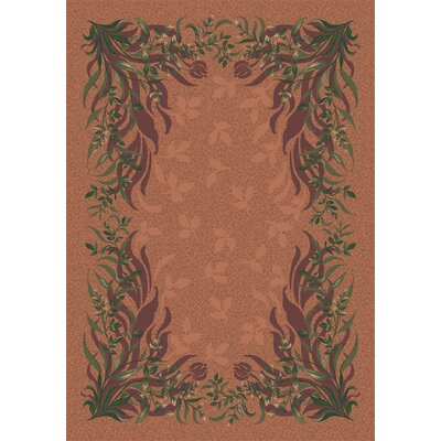 Pastiche Baskerville Sorrel Brown Area Rug Rug Size: Oval 78 x 109