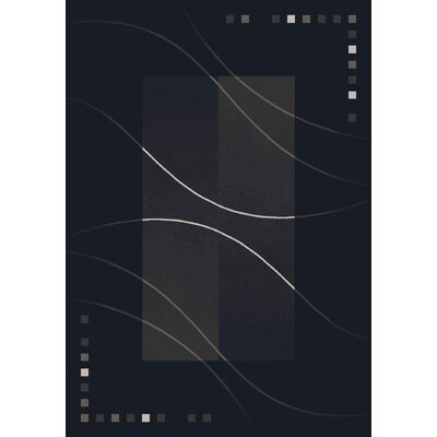 Pastiche Caliente Ebony Black Area Rug Rug Size: Rectangle 78 x 109