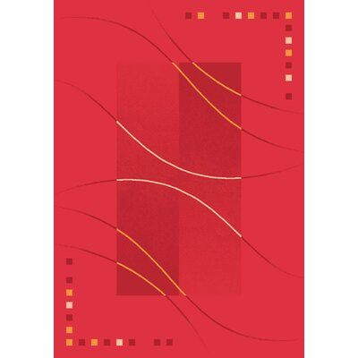 Pastiche Caliente Rouge Red Area Rug Rug Size: Oval 78 x 109