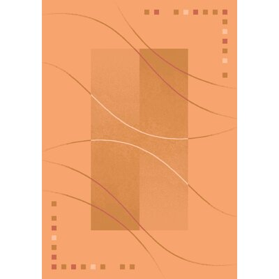 Pastiche Caliente Flaxen Orange Area Rug Rug Size: Oval 78 x 109