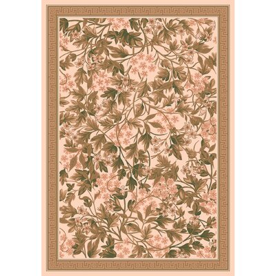 Pastiche Delphi Floral Sand Brown Rug Rug Size: Rectangle 109 x 132