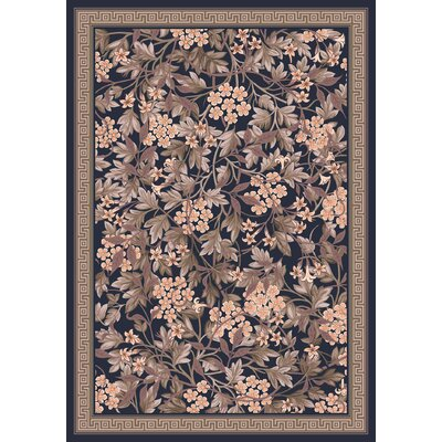 Pastiche Delphi Floral Ebony Rug Rug Size: Rectangle 78 x 109