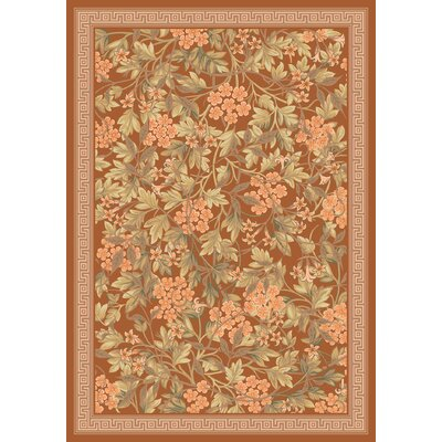 Pastiche Delphi Nutmeg Floral Rug Rug Size: Rectangle 109 x 132