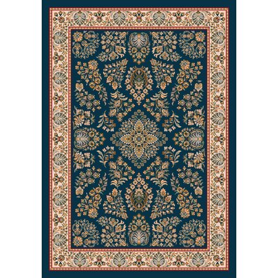 Pastiche Halkara Candle Blue Rug Rug Size: Rectangle 78 x 109