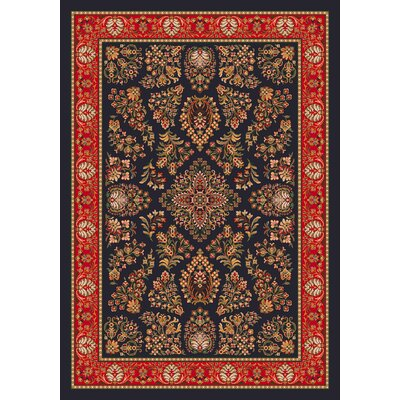 Pastiche Halkara Ebony Rug Rug Size: Rectangle 78 x 109