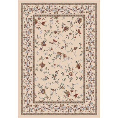 Pastiche Hampshire Floral Sand Rug Rug Size: Rectangle 109 x 132
