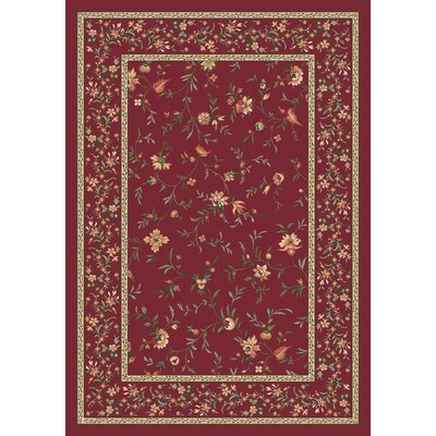 Pastiche Hampshire Floral Rust Rug Rug Size: Rectangle 109 x 132