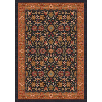 Pastiche Kamil Ebony Folk/Tribal Rug Rug Size: Rectangle 109 x 132