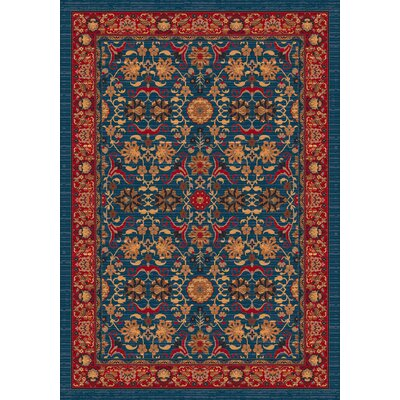 Pastiche Kamil Blue Grey Rug Rug Size: Rectangle 109 x 132