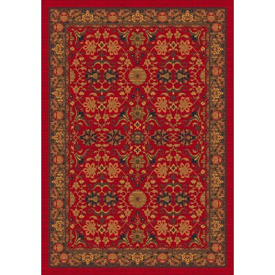 Pastiche Kamil Red Cinnamon Rug Rug Size: Rectangle 109 x 132