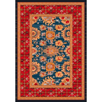 Pastiche Karshi Blue Grey Rug Rug Size: Rectangle 109 x 132