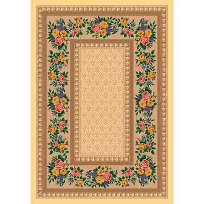 Pastiche Kerri Autumn Sun Beige Area Rug Rug Size: Rectangle 109 x 132