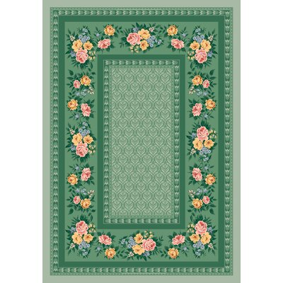 Pastiche Kerri Cool Celery Green Area Rug Rug Size: Rectangle 28 x 310