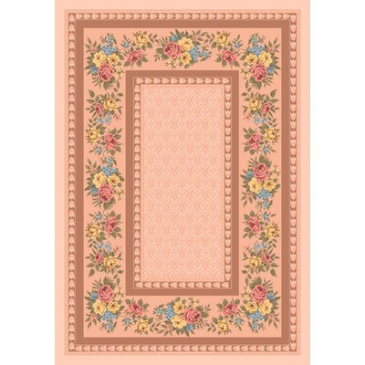 Pastiche Kerri Ecru Brown Area Rug Rug Size: Rectangle 78 x 109
