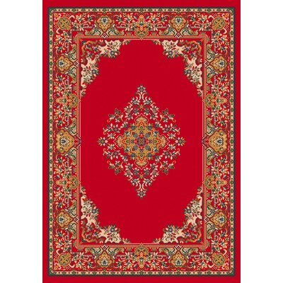 Pastiche Merkez Currant Red Area Rug Rug Size: Rectangle 109 x 132
