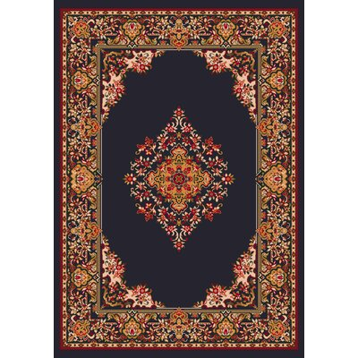 Pastiche Merkez Ebony Area Rug Rug Size: Rectangle 109 x 132