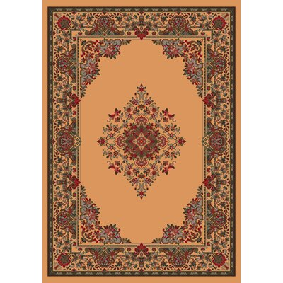 Pastiche Merkez Lost Light Brown Area Rug Rug Size: Oval 7'8
