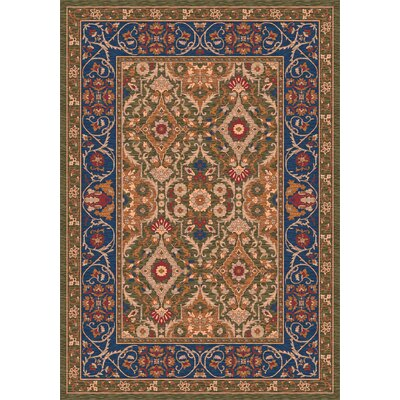 Pastiche Sandakan Autumn Green Area Rug Rug Size: Rectangle 109 x 132