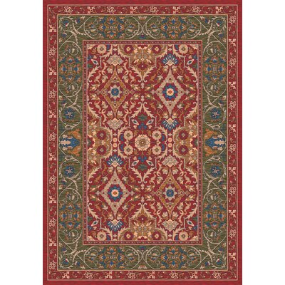 Pastiche Sandakan Chili Area Rug Rug Size: Rectangle 109 x 132