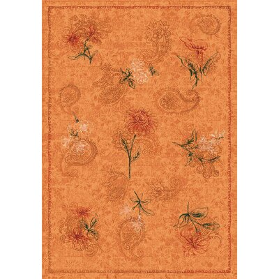 Pastiche Vintage Flaxen Orange Area Rug Rug Size: Rectangle 109 x 132