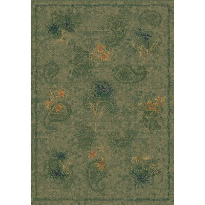 Pastiche Vintage Cilantro Green Area Rug Rug Size: Rectangle 109 x 132